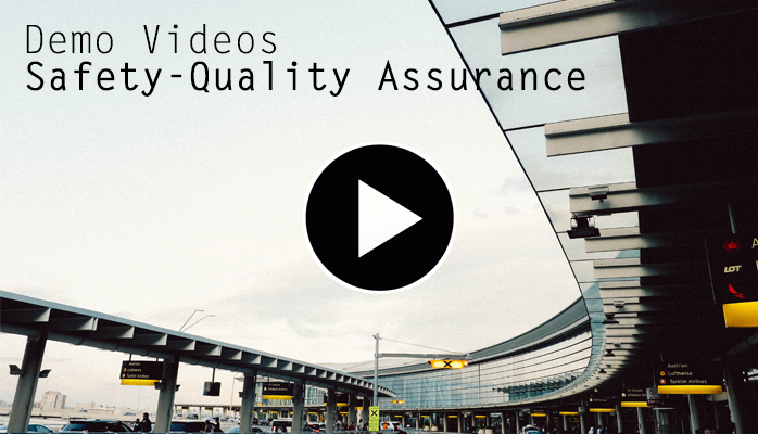 Aviation safety-quality assurance demo videos for airlines, airports maintenance organizations, flight schools aviation safety management systems (SMS)